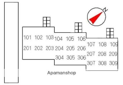 アメニティヒルズ[3LDK/67.56m2]の配置図