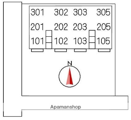 イーストンリバー[2LDK/58m2]の配置図