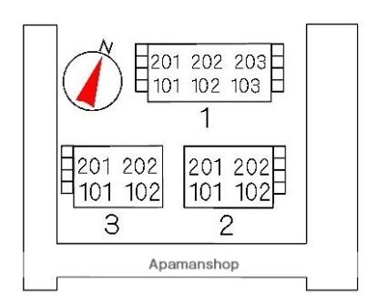 スカイハイツK1[2DK/39.75m2]の配置図