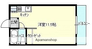 グリンヒルカワシマ[1R/23.1m2]の間取図