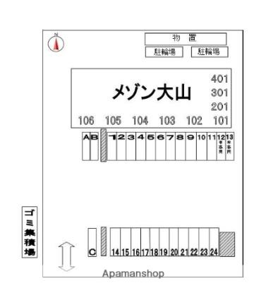 メゾン大山[3LDK/75.58m2]の配置図