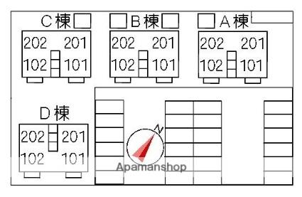 ル・グラフォート A棟[2LDK/64.59m2]の配置図