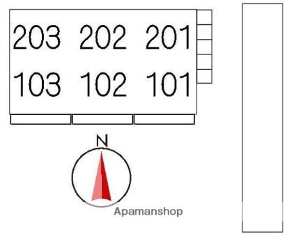 ベルエポック[1LDK/42m2]の配置図