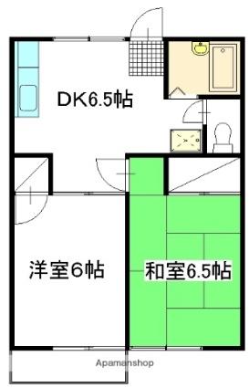 石高ハイツ[2DK/40m2]の間取図