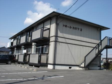 栃木県宇都宮市、岡本駅関東バスバス7分御幸町下車後徒歩5分の築19年 2階建の賃貸アパート