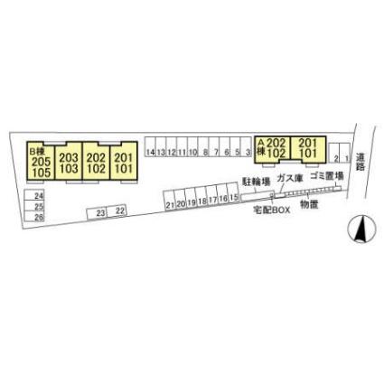 メゾン・ド・クロワールハーモニーランド ハーモニーランド[2LDK/50.88m2]の配置図