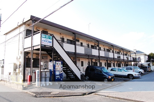 栃木県宇都宮市、宇都宮駅関東バスバス14分地蔵前下車後徒歩20分の築33年 2階建の賃貸アパート