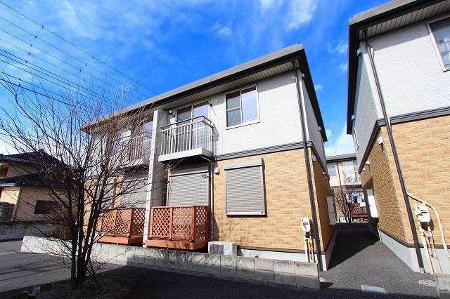 栃木県宇都宮市の築10年 2階建の賃貸テラスハウス
