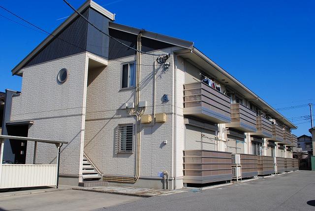 栃木県宇都宮市、宇都宮駅関東バスバス16分三の沢下車後徒歩13分の築10年 2階建の賃貸アパート