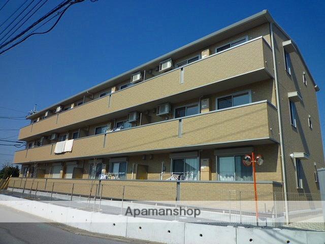 栃木県宇都宮市、宇都宮駅バス20分西三の沢下車後徒歩7分の築1年 3階建の賃貸アパート
