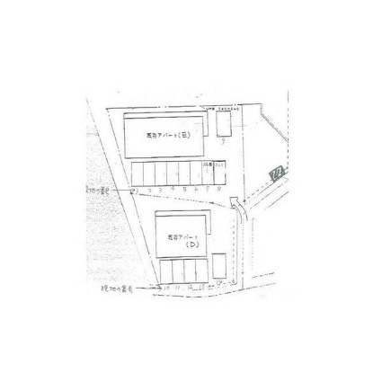 福正ハイツE(2DK)[2DK/40.92m2]の駐車場