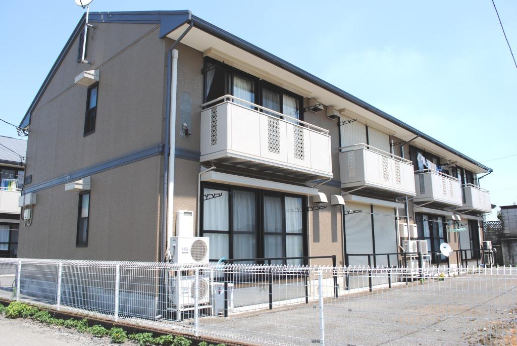 栃木県宇都宮市、宇都宮駅バス35分姿川橋下車後徒歩2分の築23年 2階建の賃貸アパート