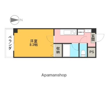 サンヴァーリオ宇都宮駅前[1K/27m2]の間取図