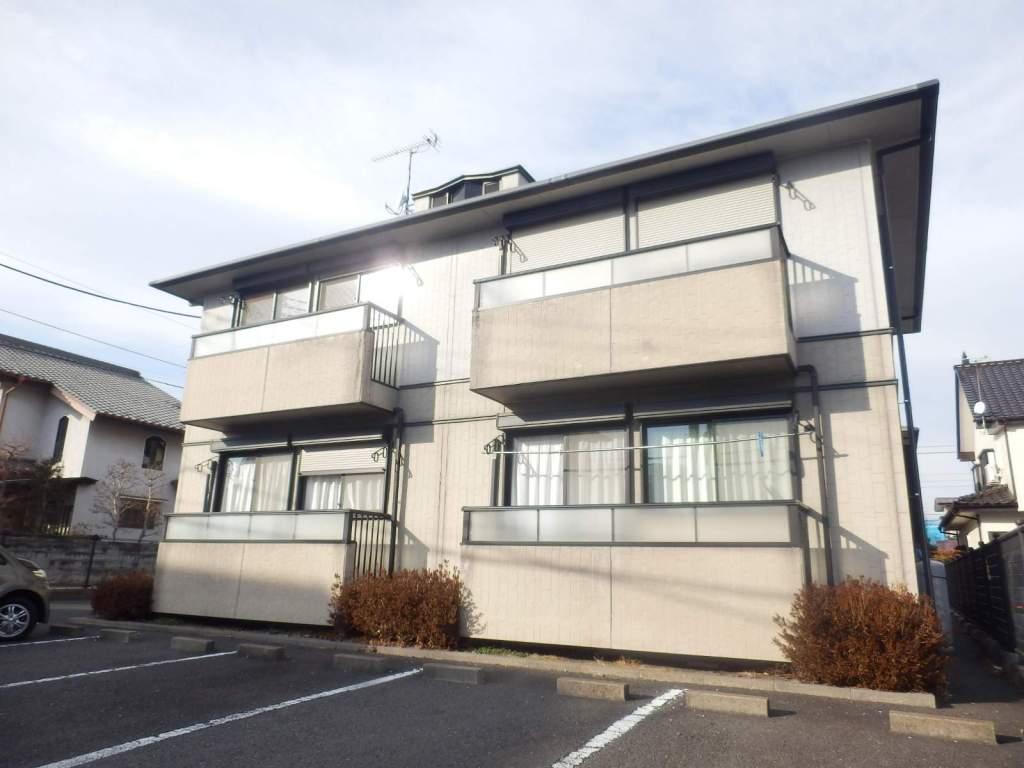 栃木県宇都宮市、雀宮駅バス60分泉ケ丘小学校前下車後徒歩1分の築20年 2階建の賃貸アパート