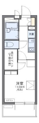 レオパレス駅東[1K/19.87m2]の間取図