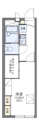 レオパレスフロンティア[1K/22.35m2]の間取図