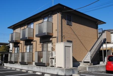 栃木県宇都宮市、雀宮駅関東バスバス55分東峰町下車後徒歩5分の築10年 2階建の賃貸アパート