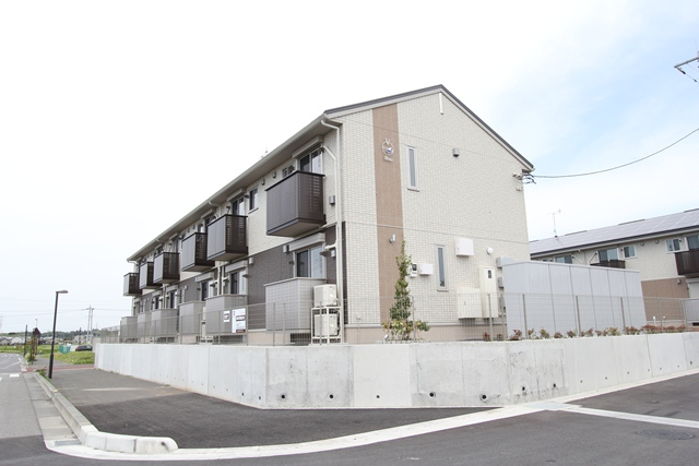 栃木県宇都宮市、宇都宮駅JRバスバス56分野高谷下車後徒歩9分の新築 2階建の賃貸アパート