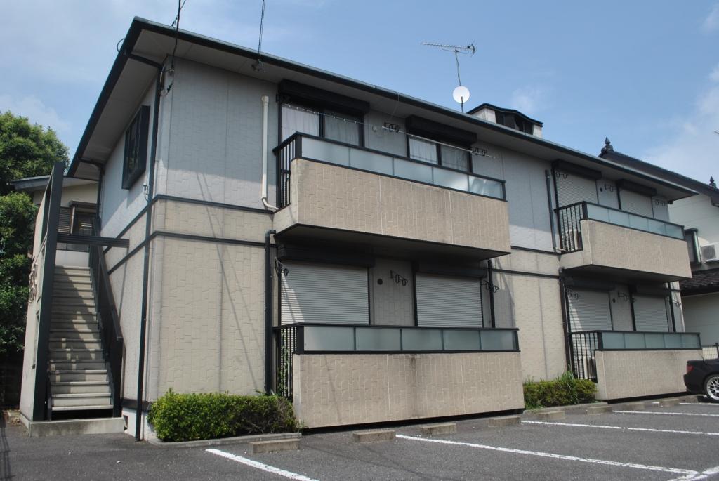 栃木県宇都宮市、雀宮駅関東バスバス55分泉が丘小前下車後徒歩5分の築21年 2階建の賃貸アパート