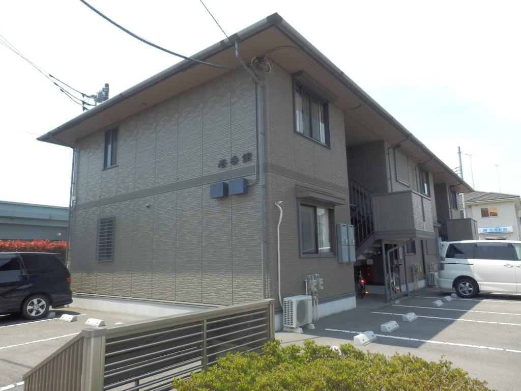 栃木県宇都宮市、雀宮駅関東バスバス60分越戸下車後徒歩10分の築15年 2階建の賃貸アパート