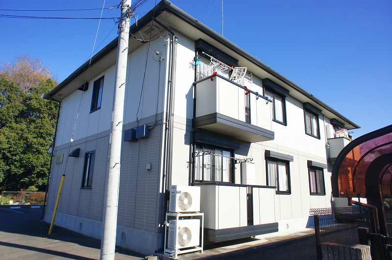 栃木県宇都宮市、雀宮駅バス15分一里下車後徒歩7分の築15年 2階建の賃貸アパート