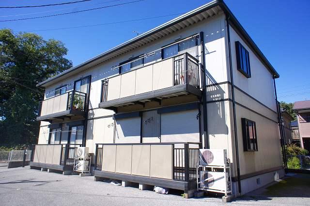 栃木県宇都宮市、雀宮駅関東バスバス20分さつき一北下車後徒歩10分の築20年 2階建の賃貸アパート