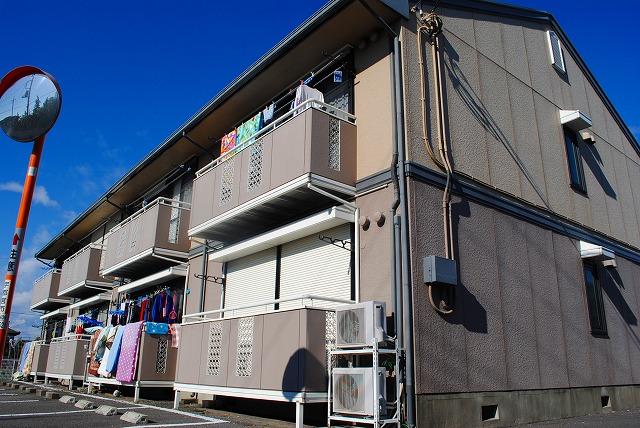 栃木県宇都宮市、宇都宮駅関東バスバス20分陽南中学校前下車後徒歩8分の築30年 2階建の賃貸アパート