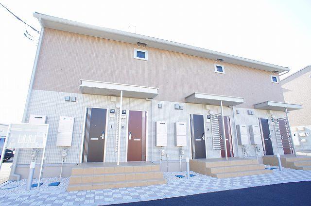栃木県宇都宮市、宇都宮駅関東バスバス23分平松本町下車後徒歩4分の新築 2階建の賃貸アパート