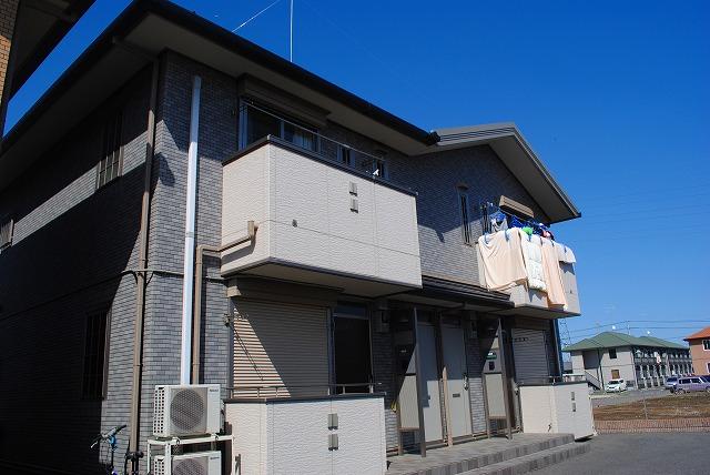 栃木県宇都宮市、雀宮駅バス15分インターパーク南下車後徒歩10分の築9年 2階建の賃貸アパート