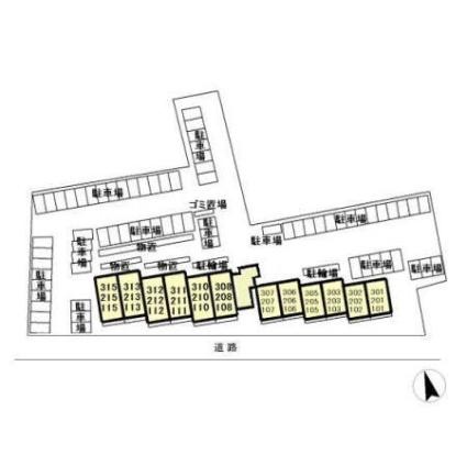 栃木県宇都宮市下岡本町[2LDK/56.16m2]の配置図