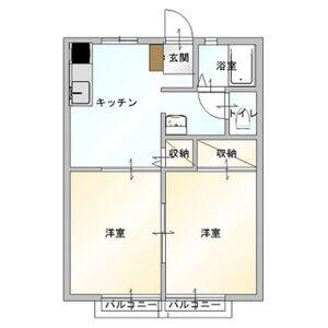 福正ハイツE(2DK)[2DK/40.92m2]の間取図