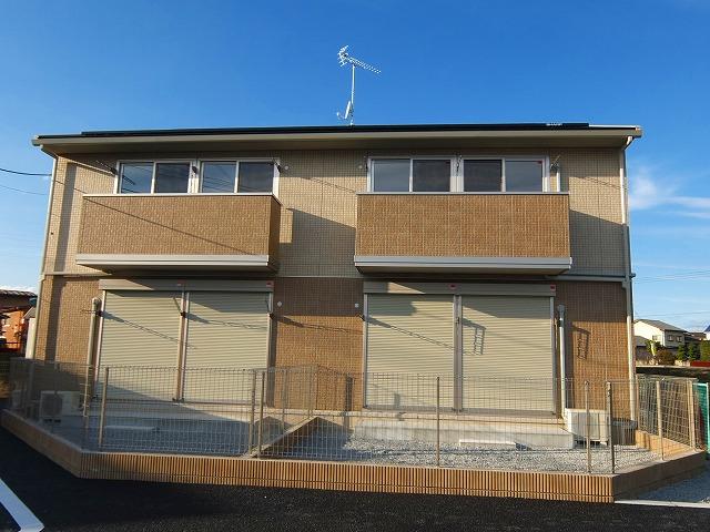 栃木県宇都宮市、宇都宮駅バス25分双葉町下車後徒歩5分の築3年 2階建の賃貸アパート