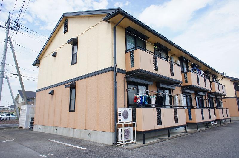 栃木県宇都宮市、東武宇都宮駅関東バスバス15分一里下車後徒歩3分の築22年 2階建の賃貸アパート
