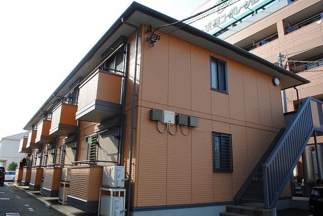 栃木県宇都宮市、雀宮駅バス15分インターパーク下車後徒歩6分の築11年 2階建の賃貸アパート
