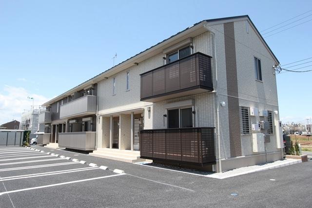 栃木県宇都宮市、宇都宮駅JRバスバス57分壁梨下車後徒歩8分の新築 2階建の賃貸アパート
