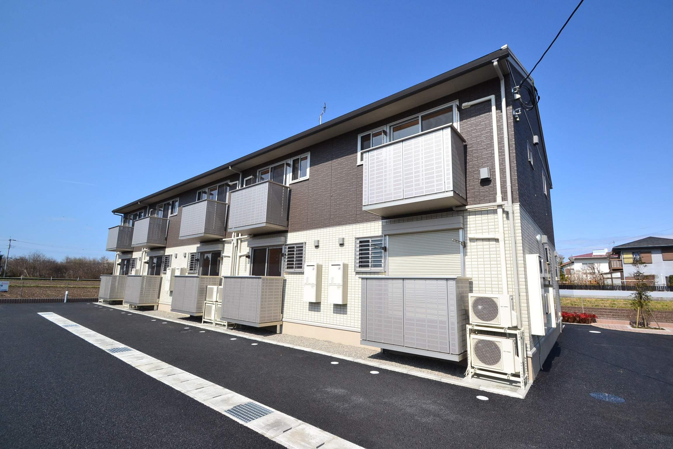 栃木県那須塩原市、西那須野駅徒歩19分の築2年 2階建の賃貸アパート