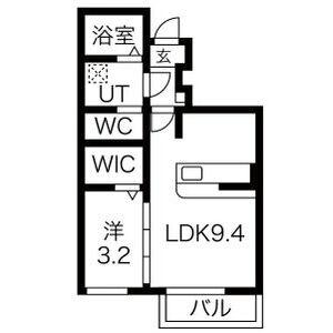 ヴィラ・ファルコン[1LDK/31.96m2]の間取図