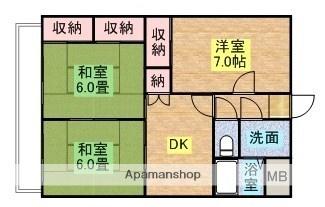 コートダジュール[3DK/58.5m2]の間取図