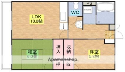 万第3ビル[2LDK/56.7m2]の間取図
