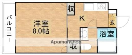 コーポしんとみB[1K/26.49m2]の間取図