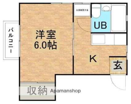 しまコーポ市野沢B[1K/20.84m2]の間取図