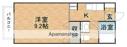 チアフル元町A[1K/28.2m2]の間取図