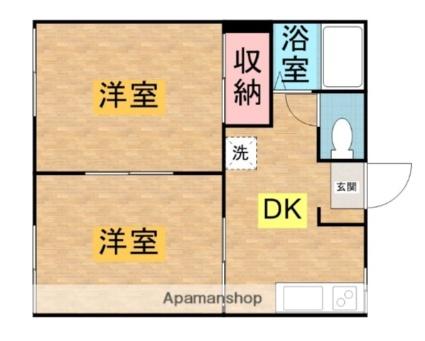 コーポ長谷阪A[2DK/33.33m2]の間取図