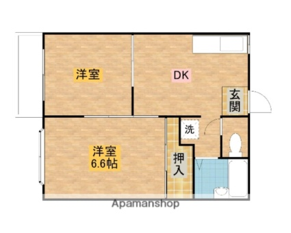 From House H[2DK/37m2]の間取図
