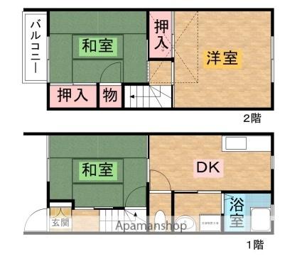 栃木県矢板市本町[3DK/59.68m2]の間取図