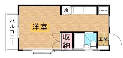 ひまわり荘[1R/23m2]の間取図