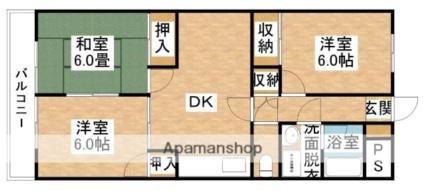 ダイユーマンション[3DK/63.45m2]の間取図