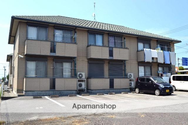 栃木県さくら市、氏家駅徒歩8分の築17年 2階建の賃貸アパート