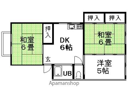 ハシモトハイツ[3DK/51m2]の間取図