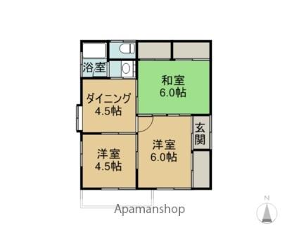 大沼田貸家[3DK/46.37m2]の間取図